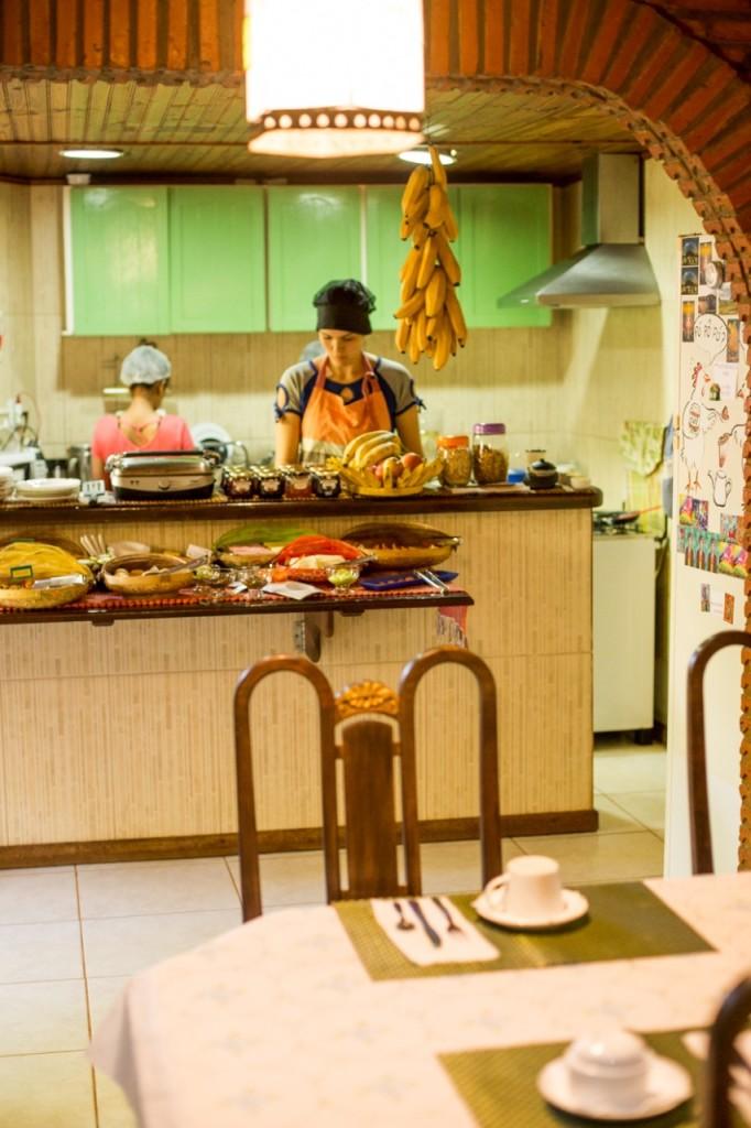 Café da manhã na Pousada em Alto Paraíso