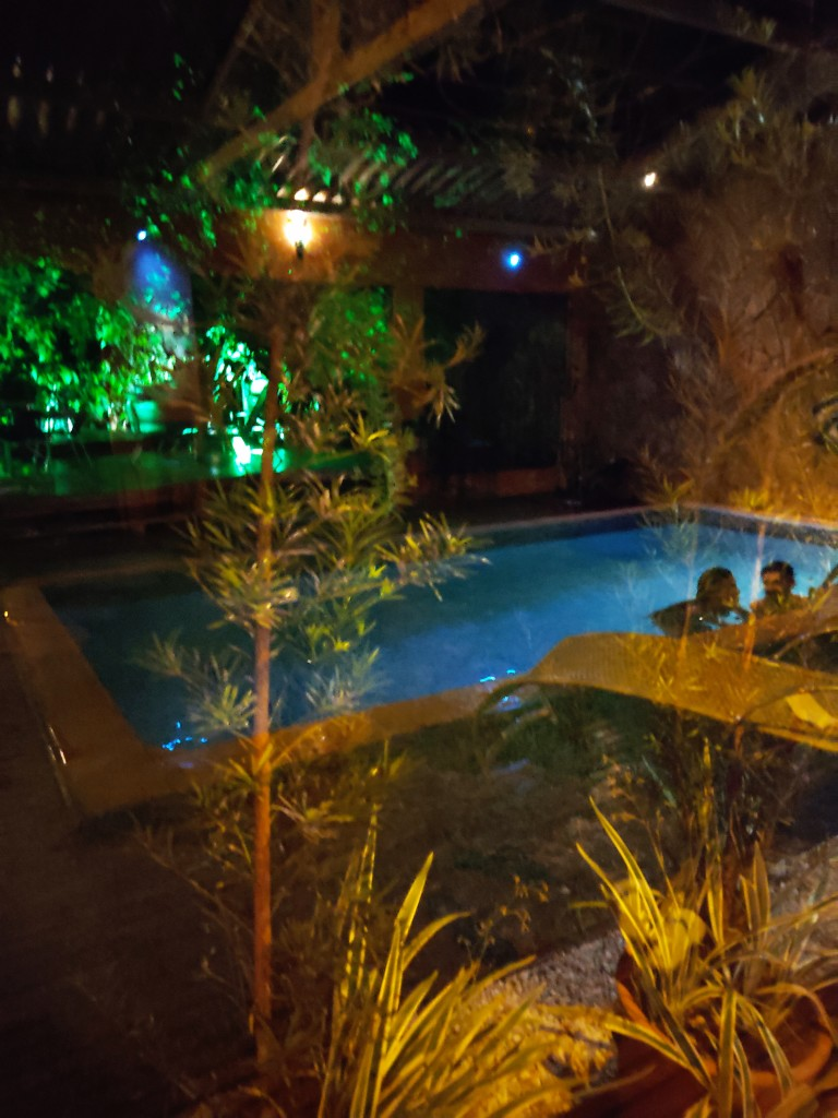 reflexos piscina